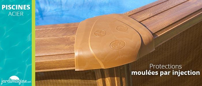 Protection piscines acier angles moulés