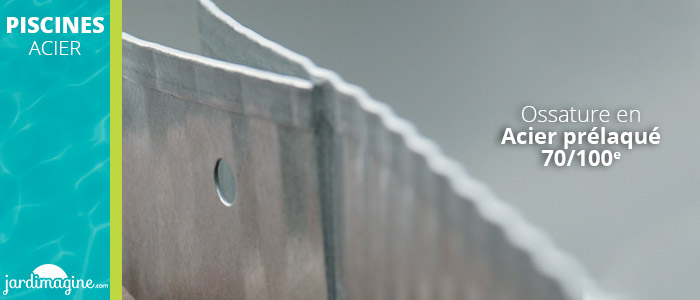 Piscine acier ossature 70/100e