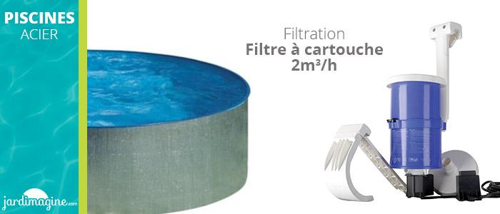 Filtration piscine acier tenerife