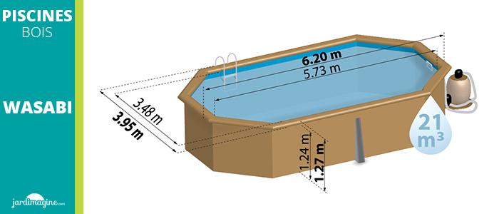 schema piscine bois wasabi dimensions