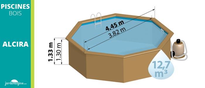 petite piscine en bois hors sol modèle Alcira sunbay