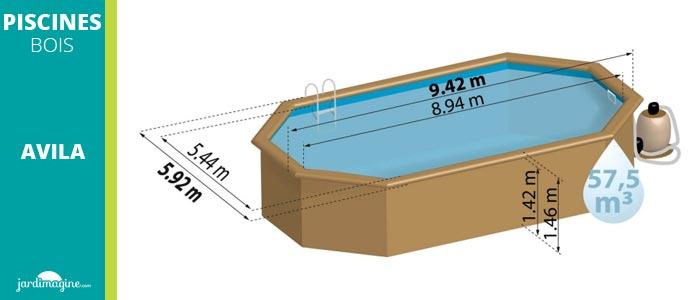 piscine hors sol 9x5