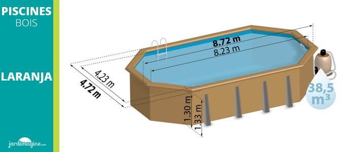piscine octogonale forme allongé laranja
