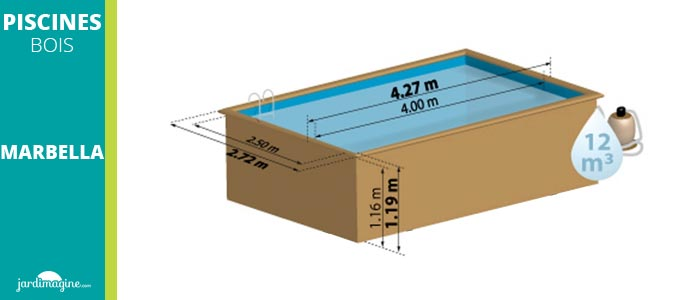 piscine hors sol rectangulaire 4 x 3