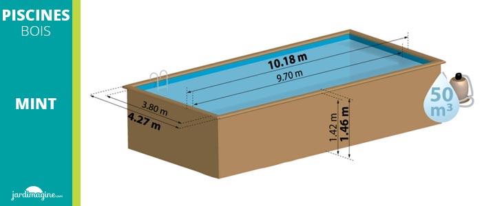 piscine rectangulaire hors sol 7 x 3
