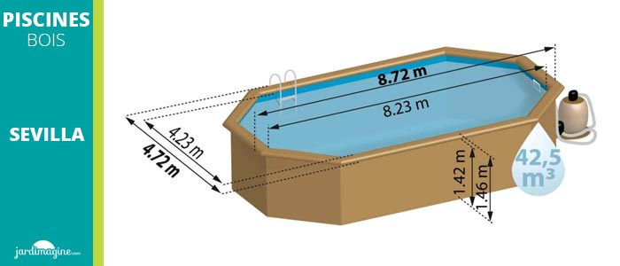 piscine bois 8x4