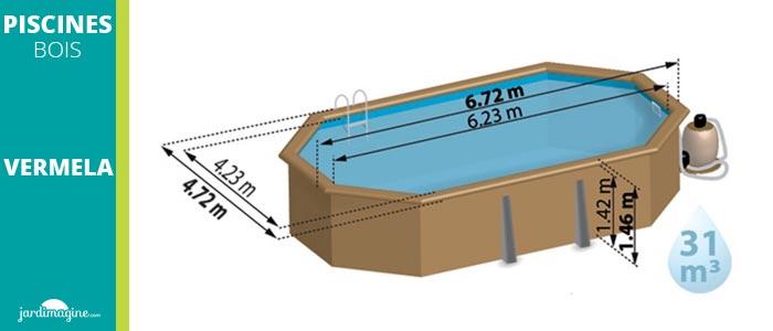 piscine octogonale 6x4 hors sol