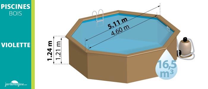 piscine hors sol diamètre 5m