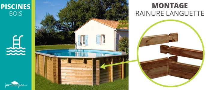 assemblage des madriers des piscines bois