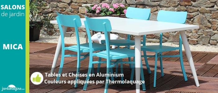 Salon repas MICA crème et bleu