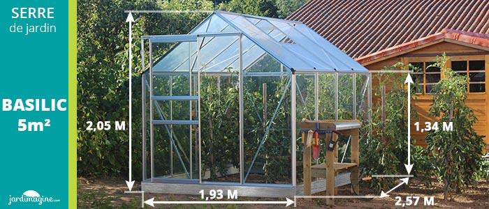 Serre basilic 5m2 une petite serre de jardin en aluminium et verre