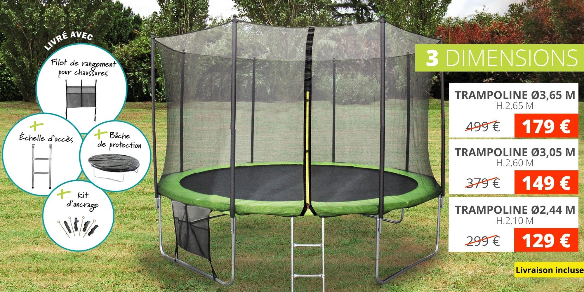 SOLDES Trampolines de jardin pour enfants , trampoline en solde