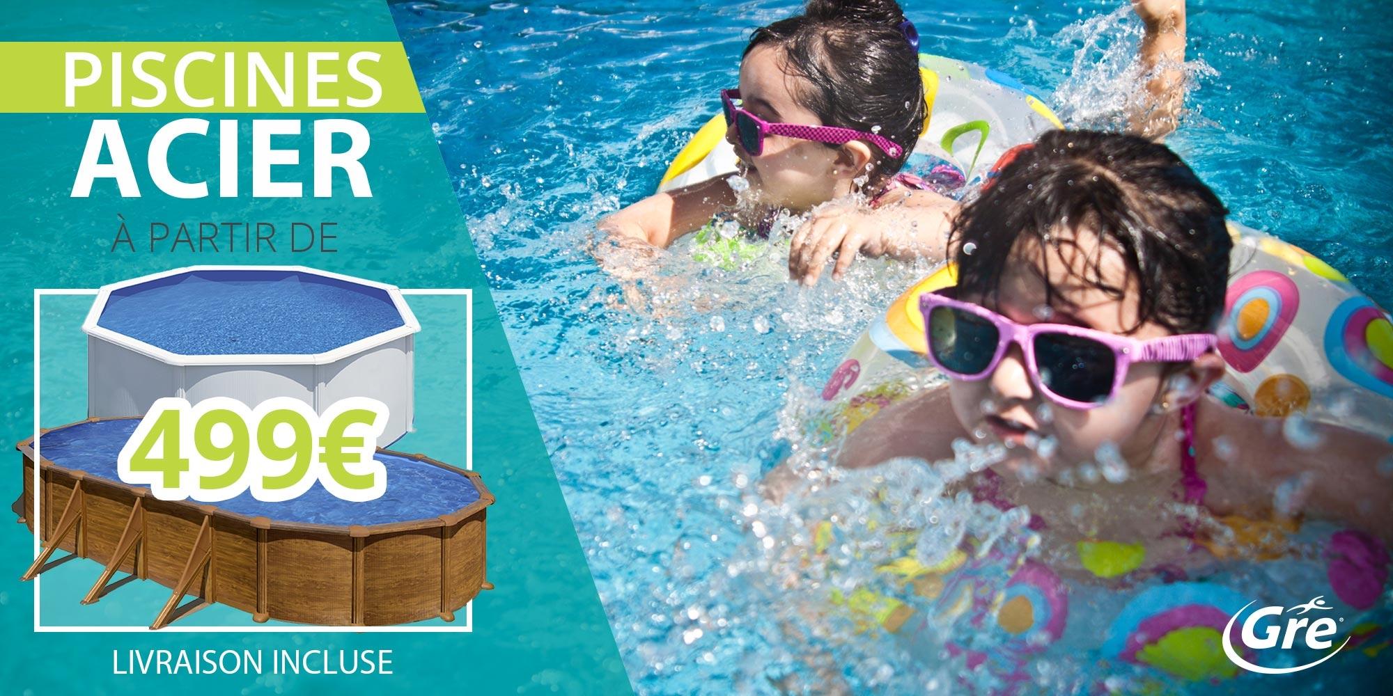 promotion piscine acier à partir de 499€