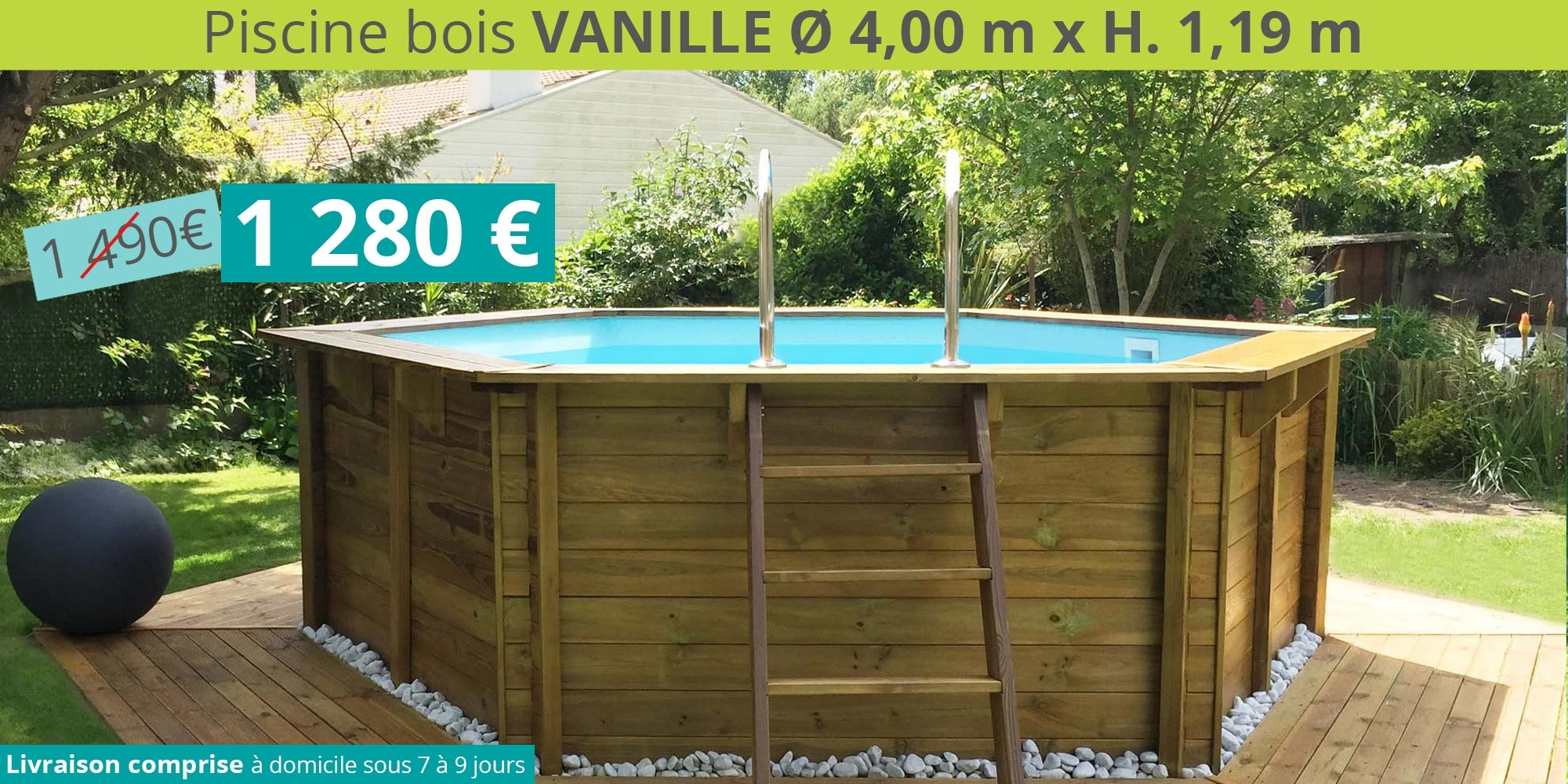 Promotion piscine bois ronde