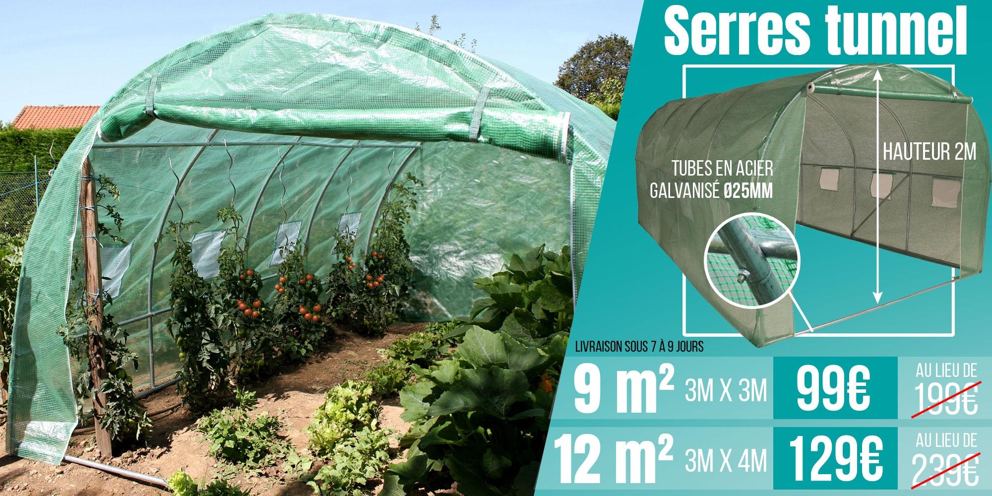 Promotion serres tunnels - serre de jardin