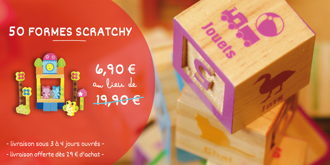 Promotion 50 formes de Scratchy