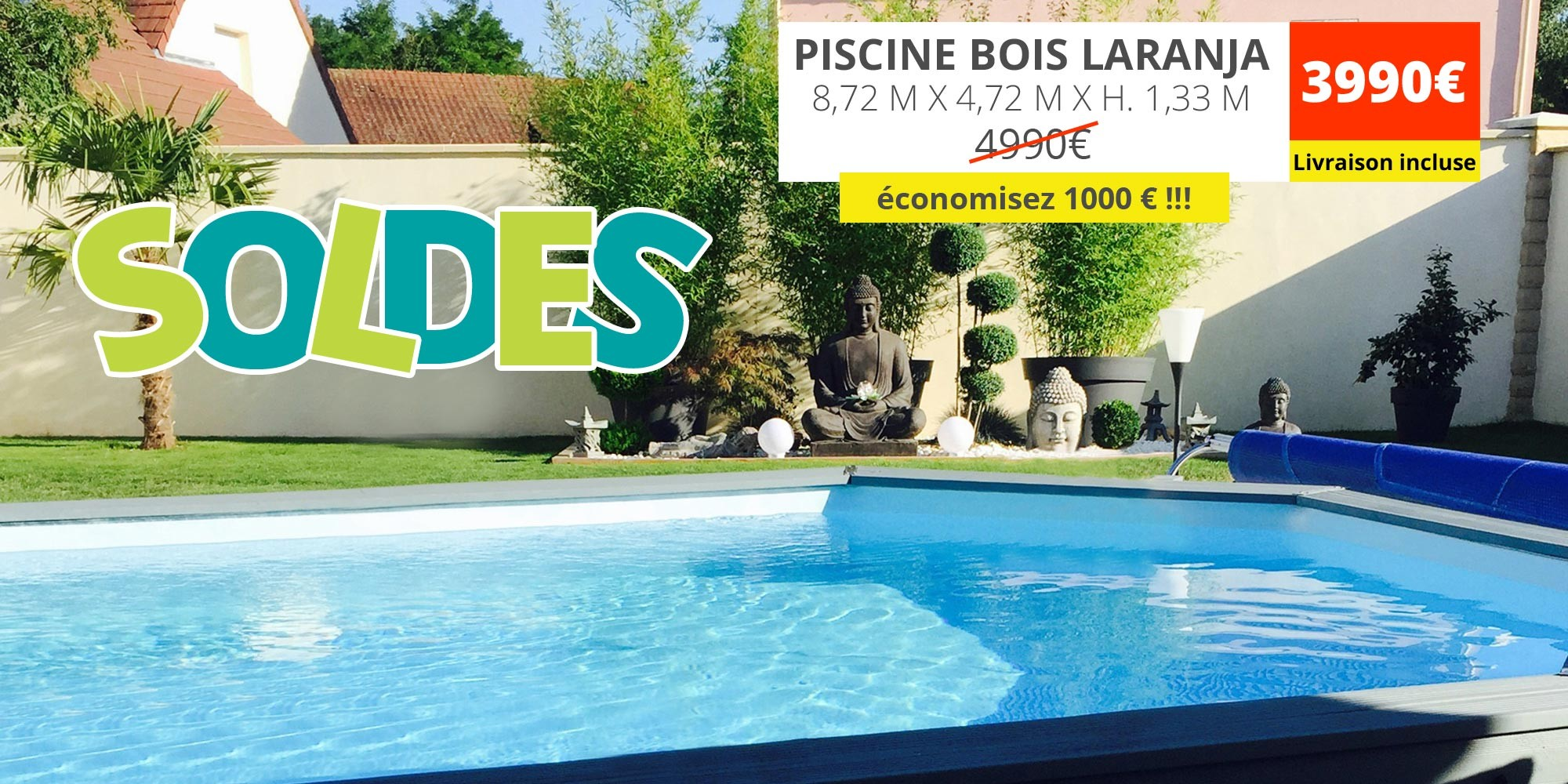 -1000€ sur la piscine bois laranaja