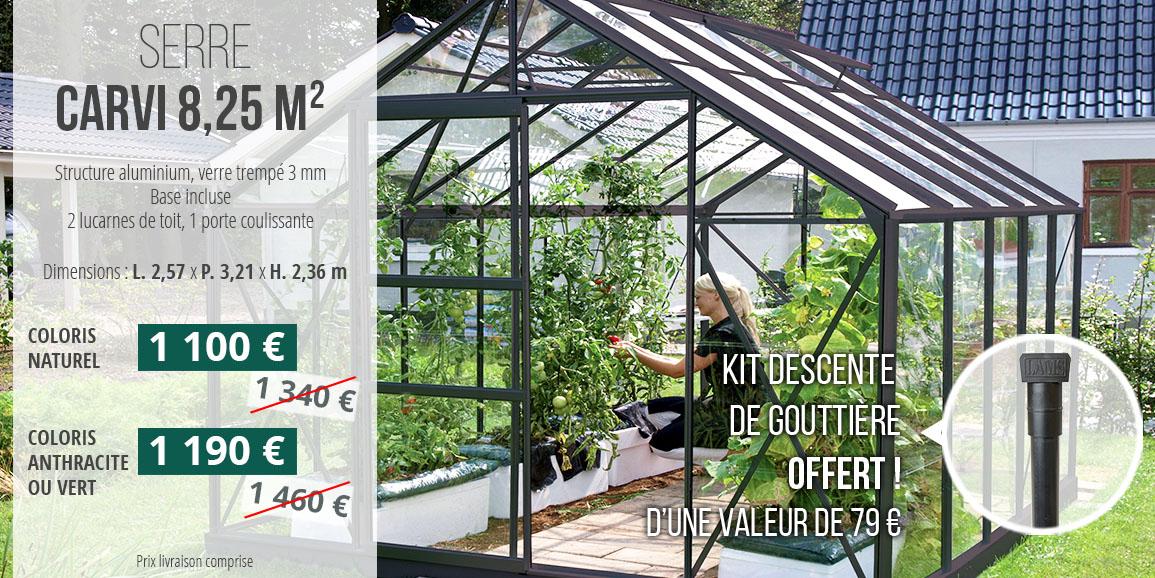 Promotion serres Carvi 8,25 m²