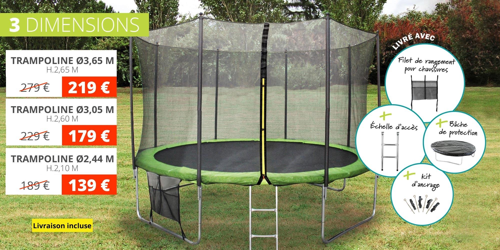 Promotion trampoline