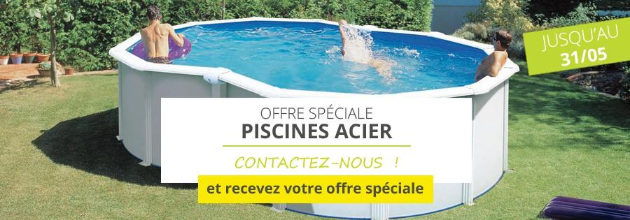 offre spéciale sur les piscines acier